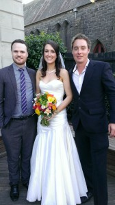 My daughter and two sons after the wedding